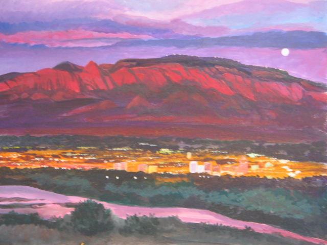 Landscapes schuyler art sandias at sunset sciox Choice Image